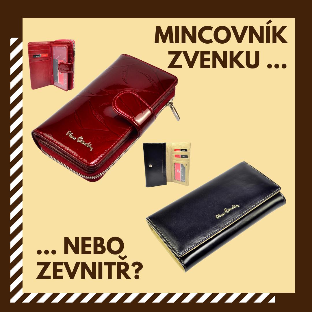 Dámské peněženky s mincovníkem uvnitř nebo zvenku?