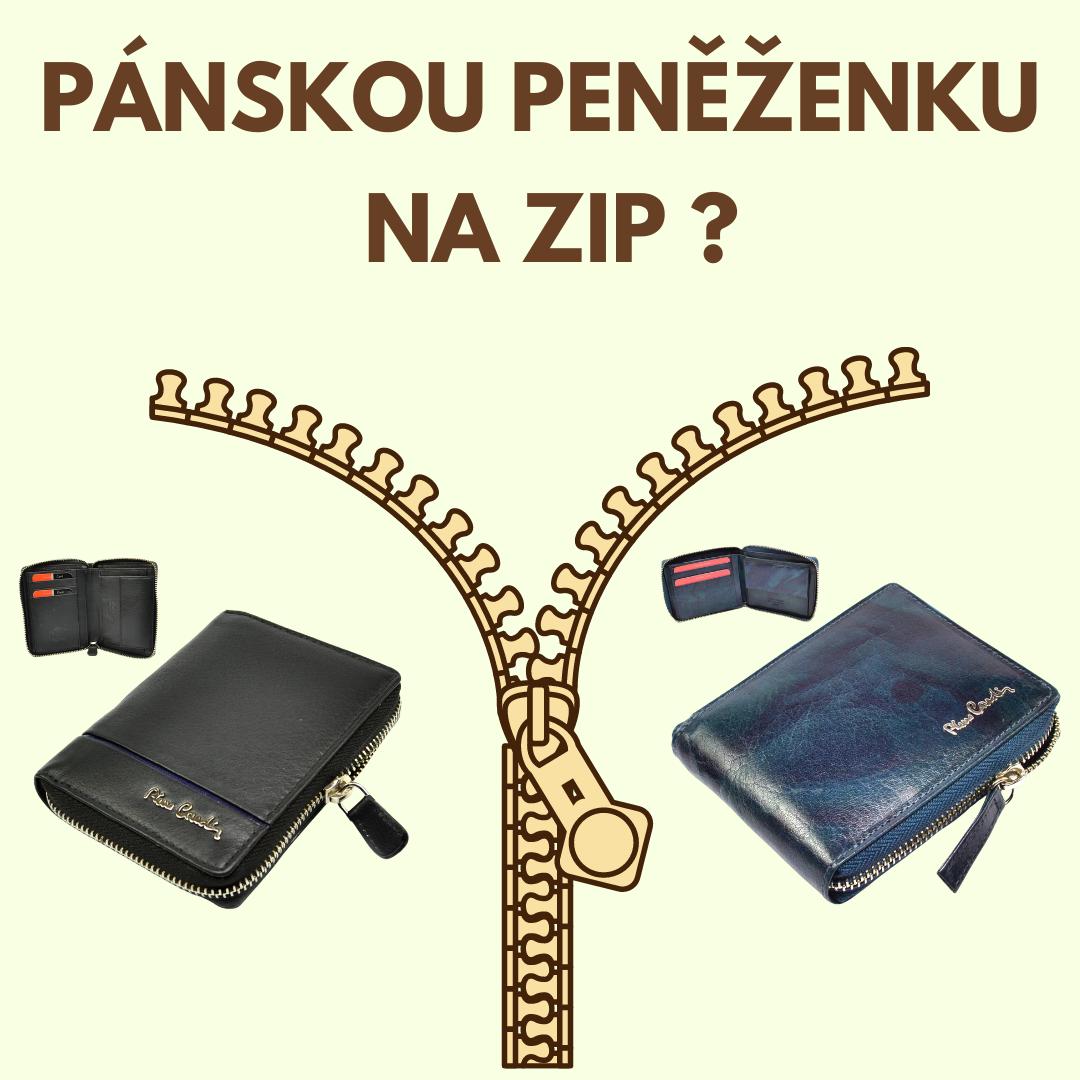 Jak vybrat pánskou peněženku na zip?