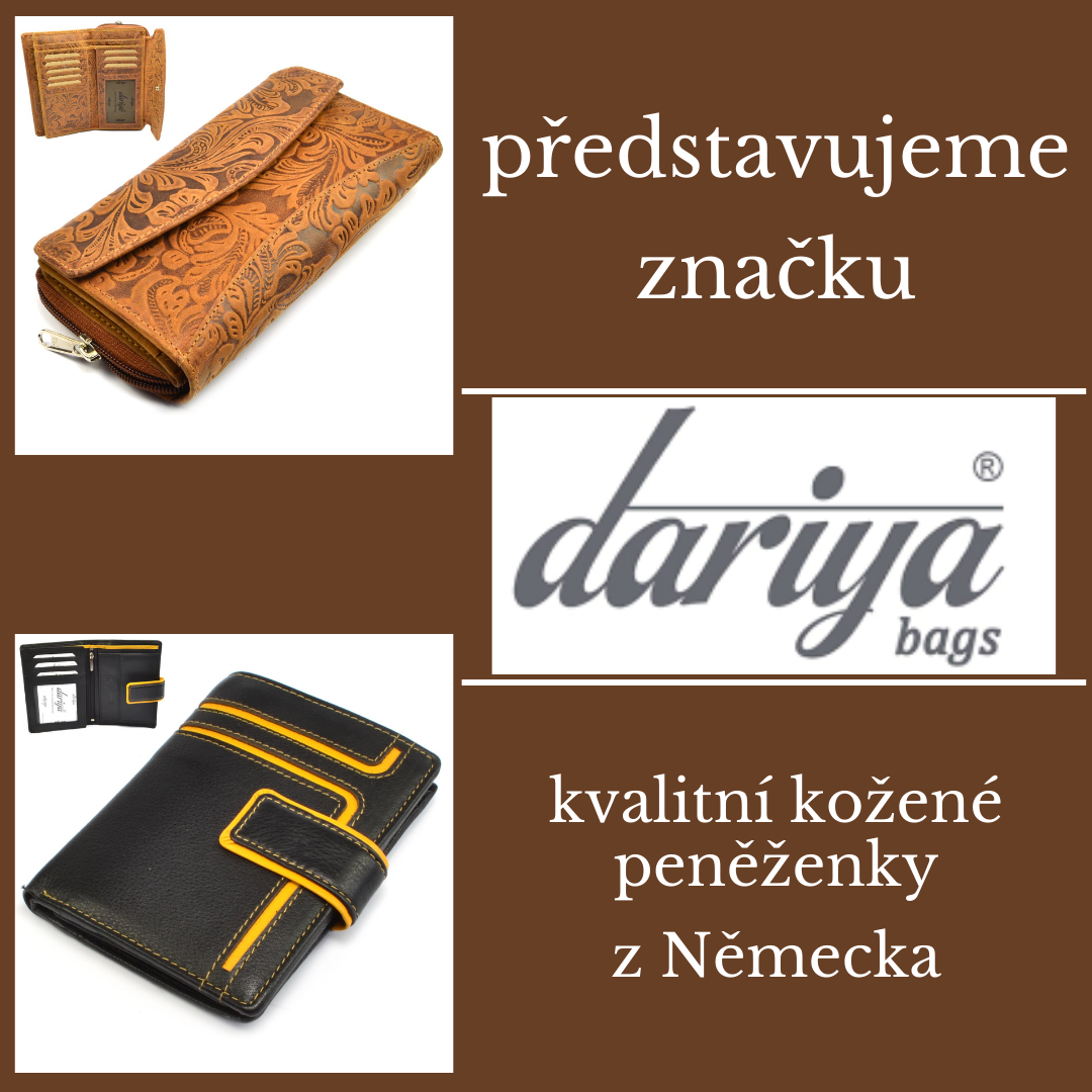 Představujeme kožené peněženky značky Dariya bags