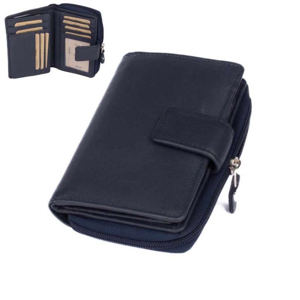 Barevná kožená dámská peněženka