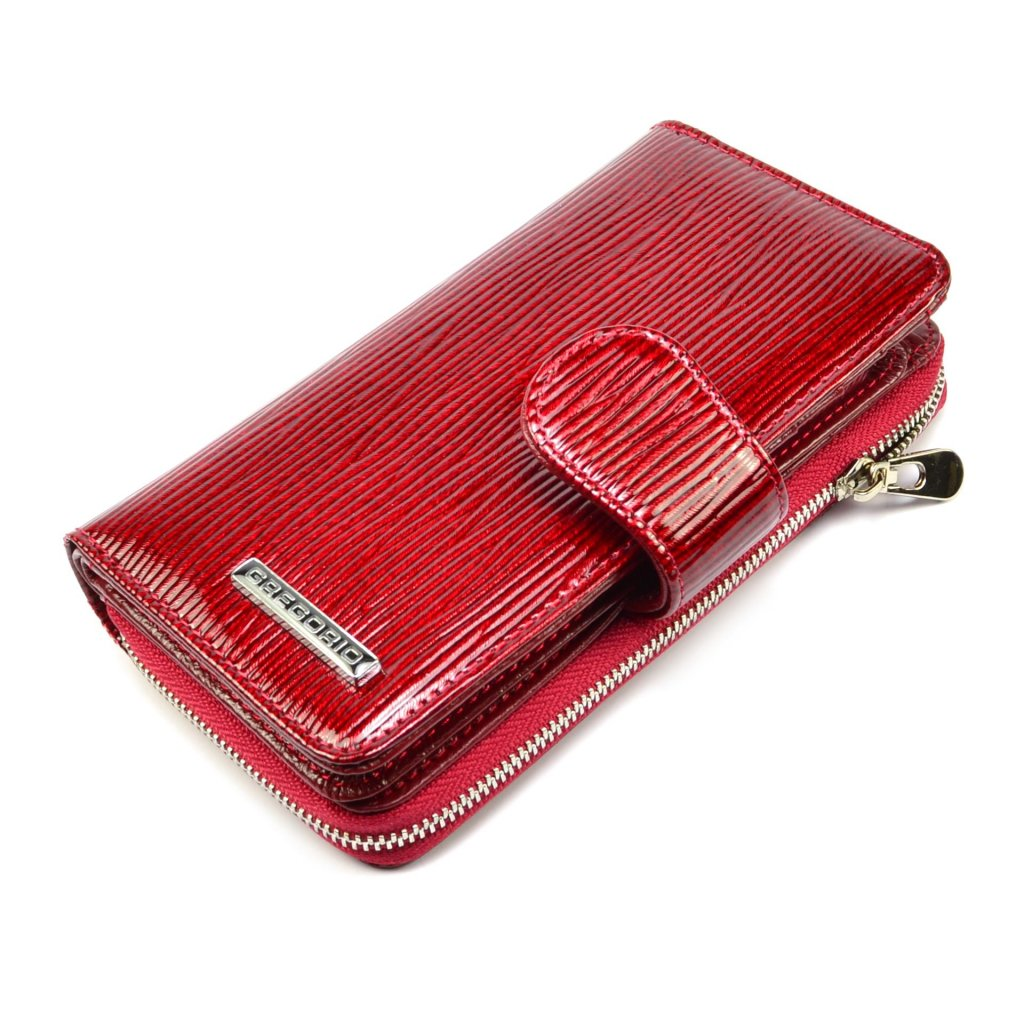 Peněženka dámská červená se zapínáním - 2
