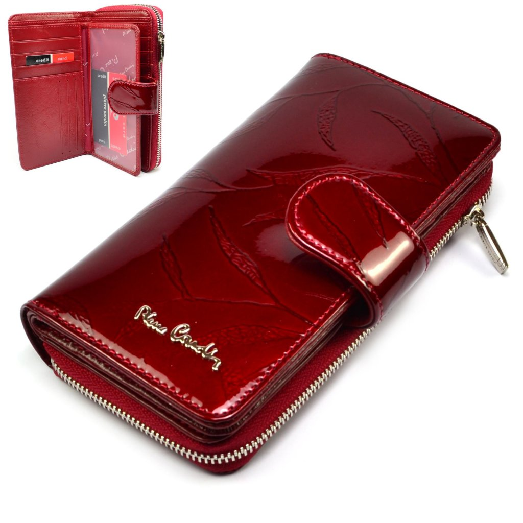 Dámská peněženka červeno-hnědá - 1