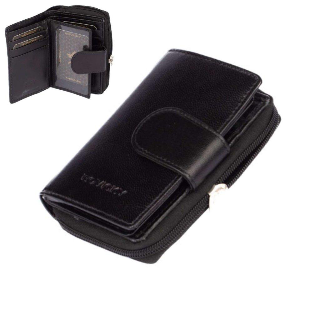 Kožená peněženka dámská černá