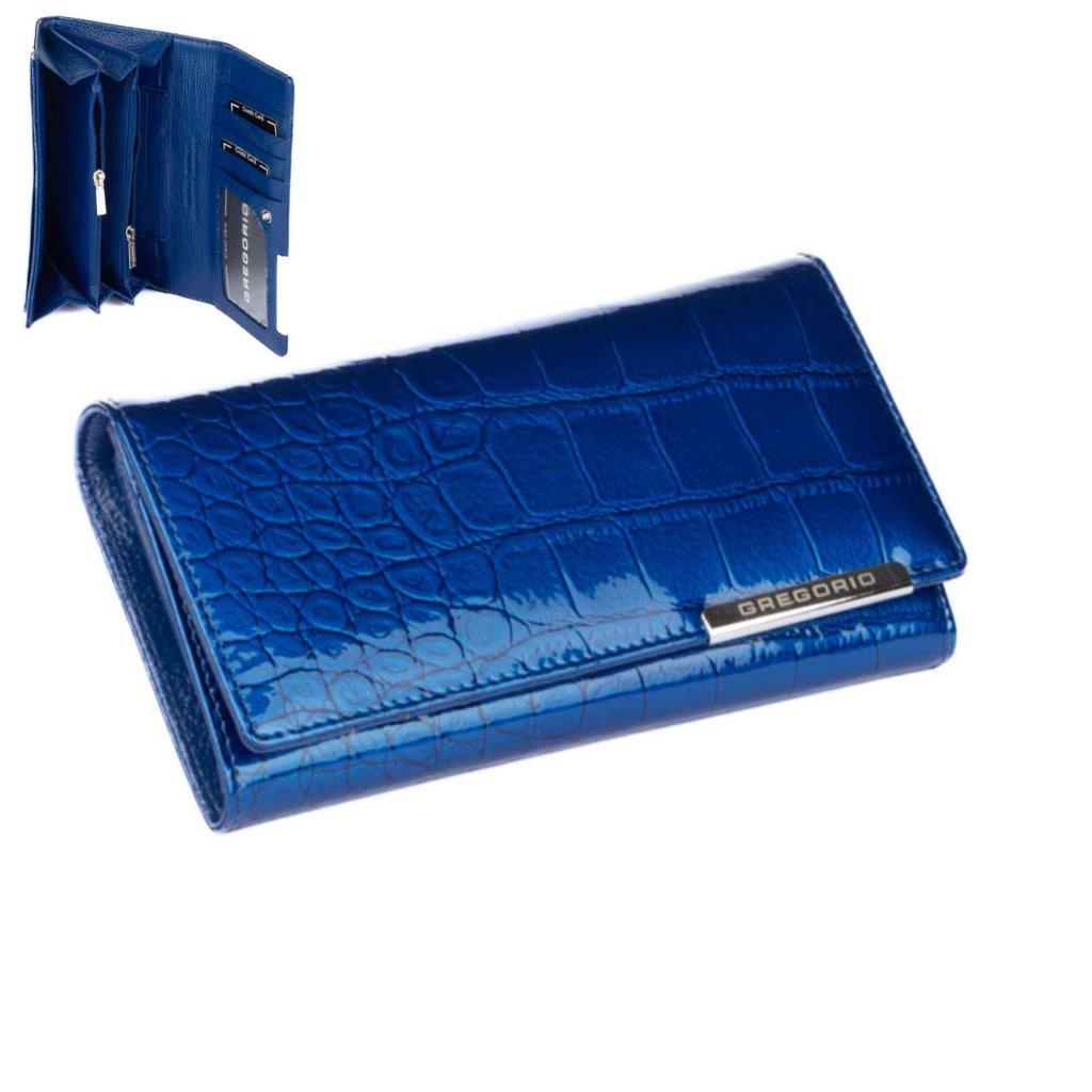 Dámská peněženka modrá velká - 1