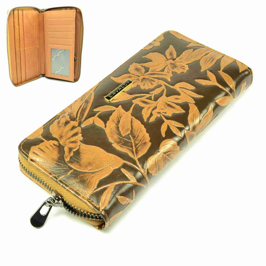 Dámská peněženka hnědá kožená - 1