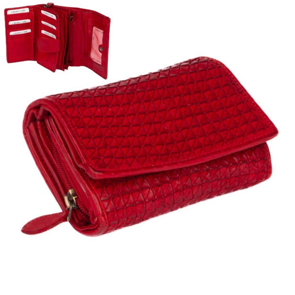 Dámská peněženka červená velká