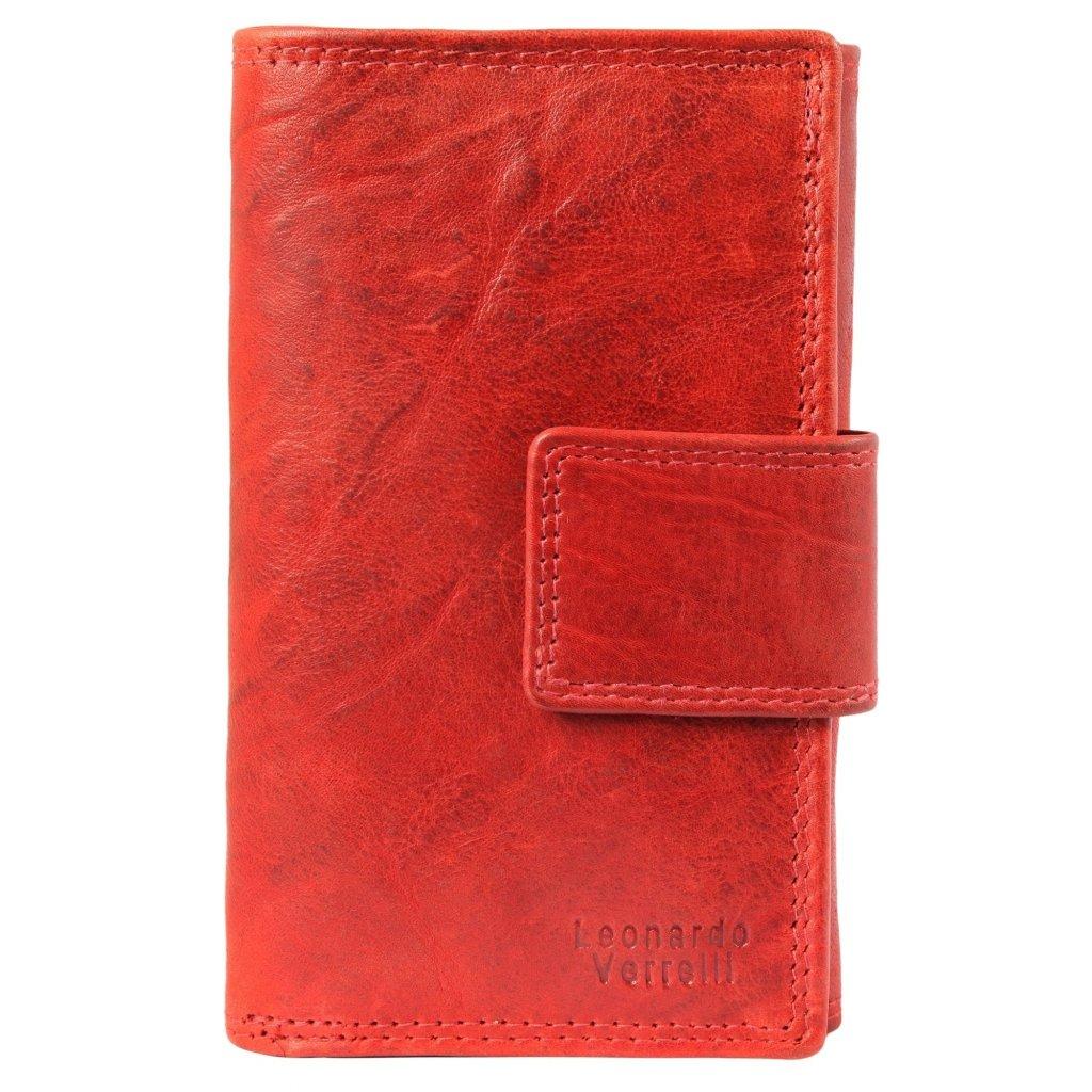 Kožená dámská peněženka hnědá