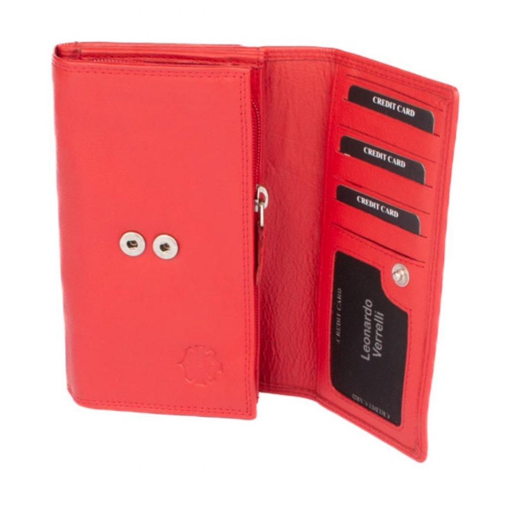 Dámská velká kožená peněženka