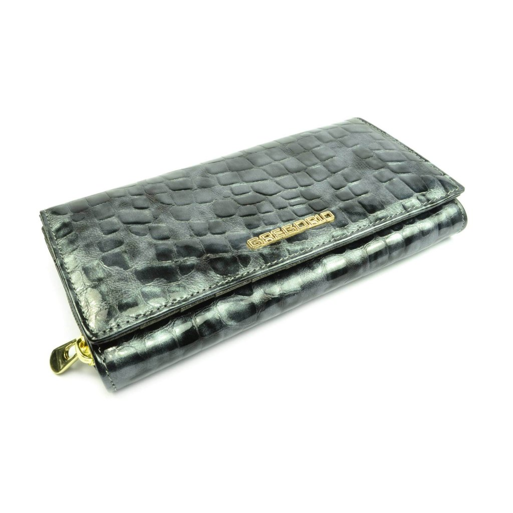 Kožená dámská peněženka s ornamenty - 1
