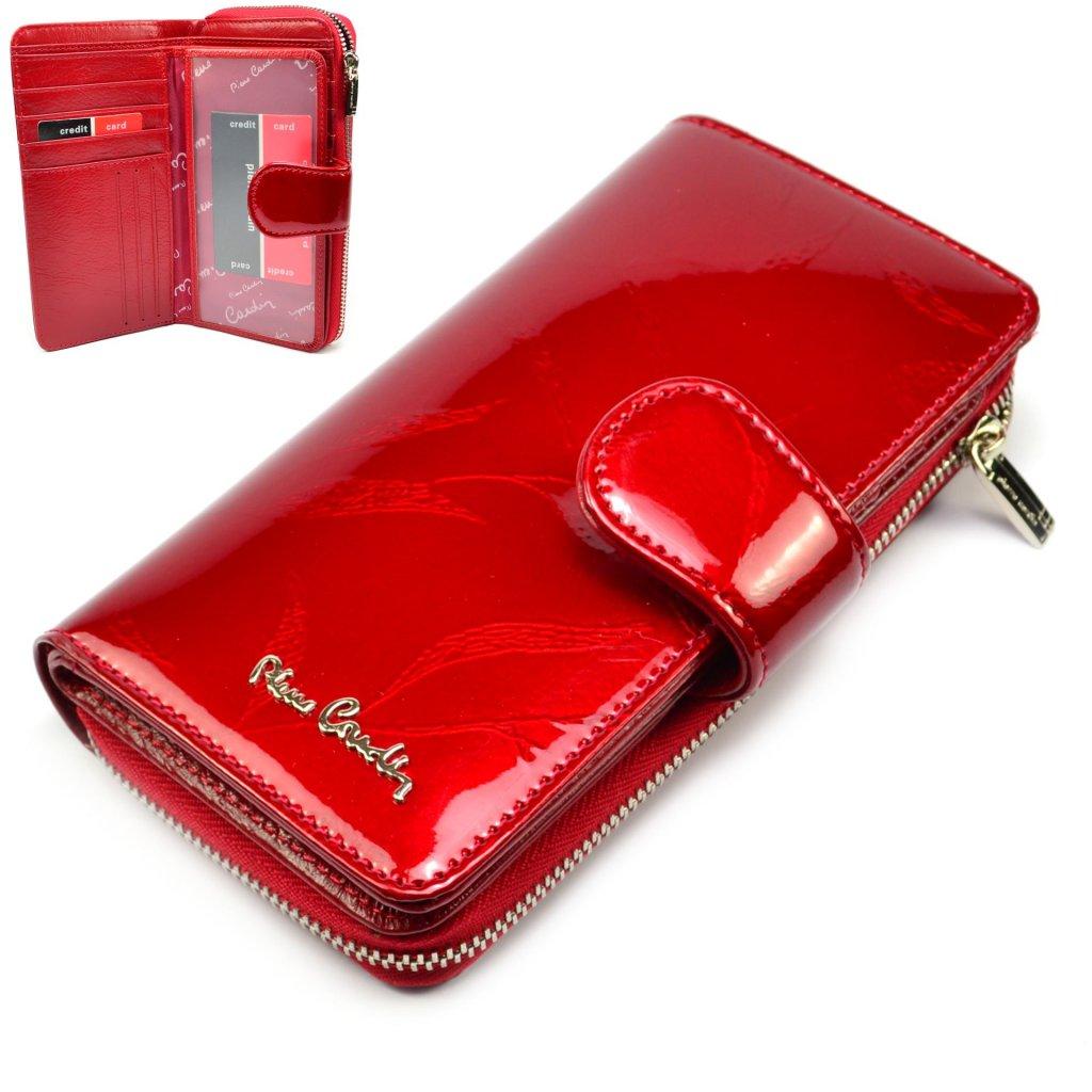Kožená dámská barevná peněženka - 1