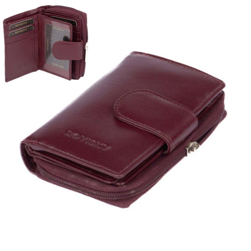 Fialová peněženka dámská