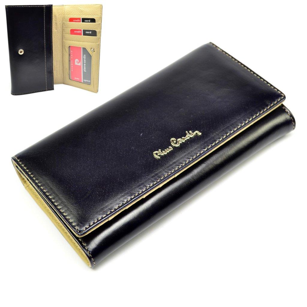 Velká dámská kožená peněženka s krabičkou - 1