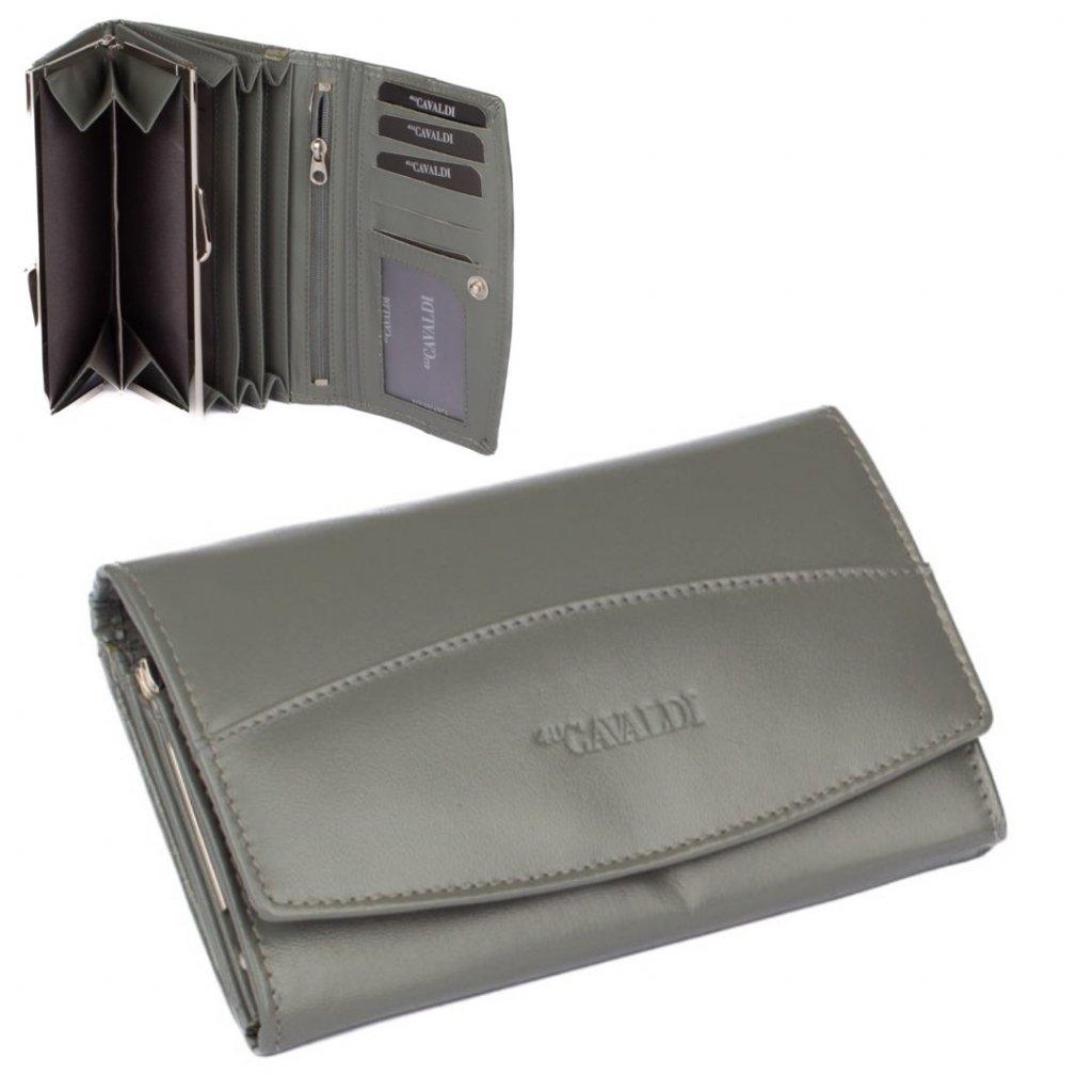 Dámská peněženka malá šedá - 1