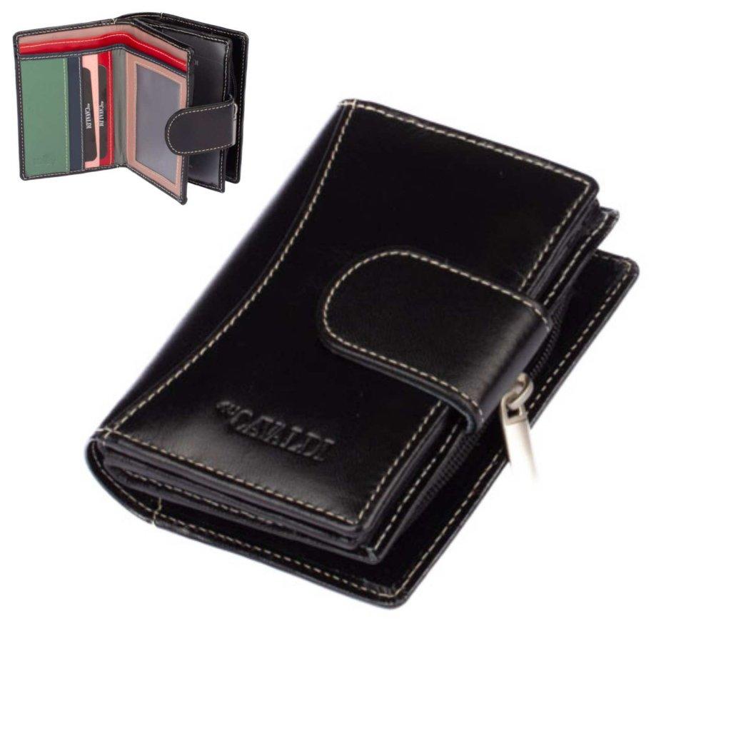 Dámská kožená peněženka s přezkou