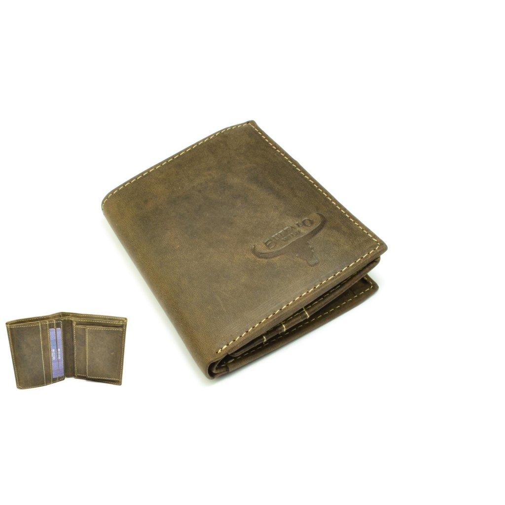 Peněženka pánská dokladovka kožená
