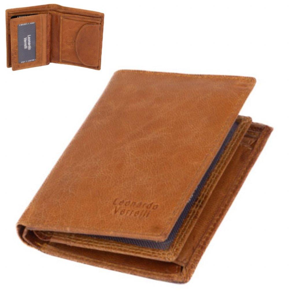 Pánská peněženka kožená světlá