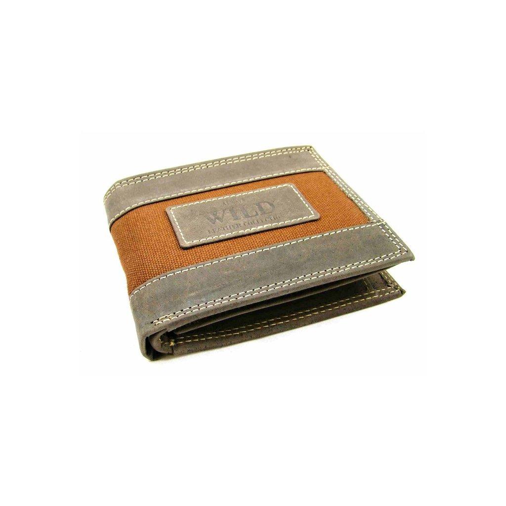Kožená pánská hnědá peněženka