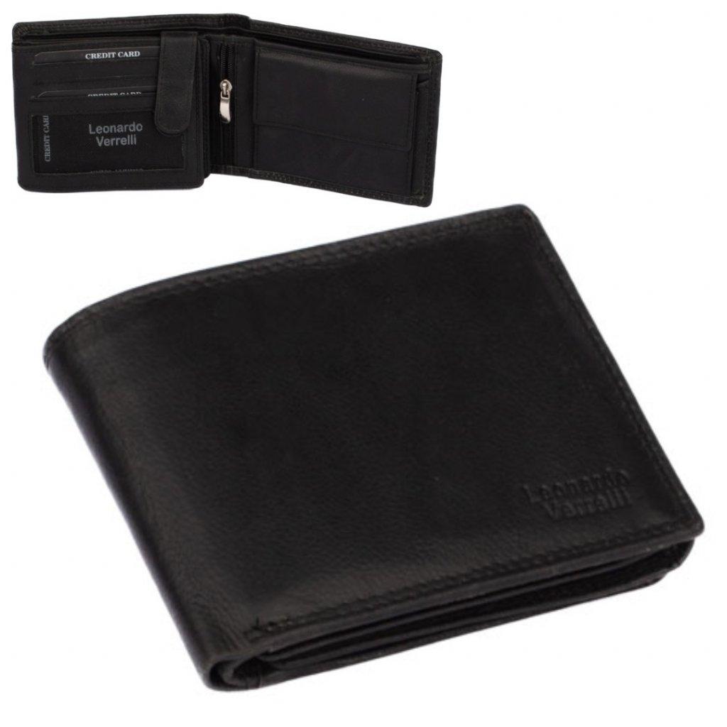 Luxusní černá pánská peněženka