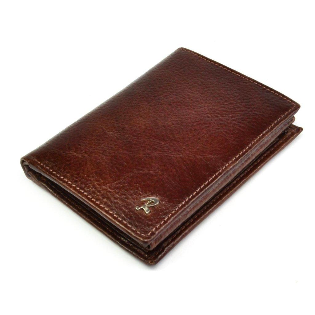Kožená hnědá peněženka pánská - 2