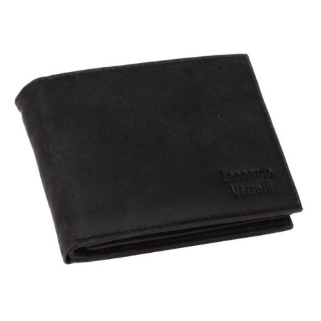 Pánská černá peněženka kožená - 2