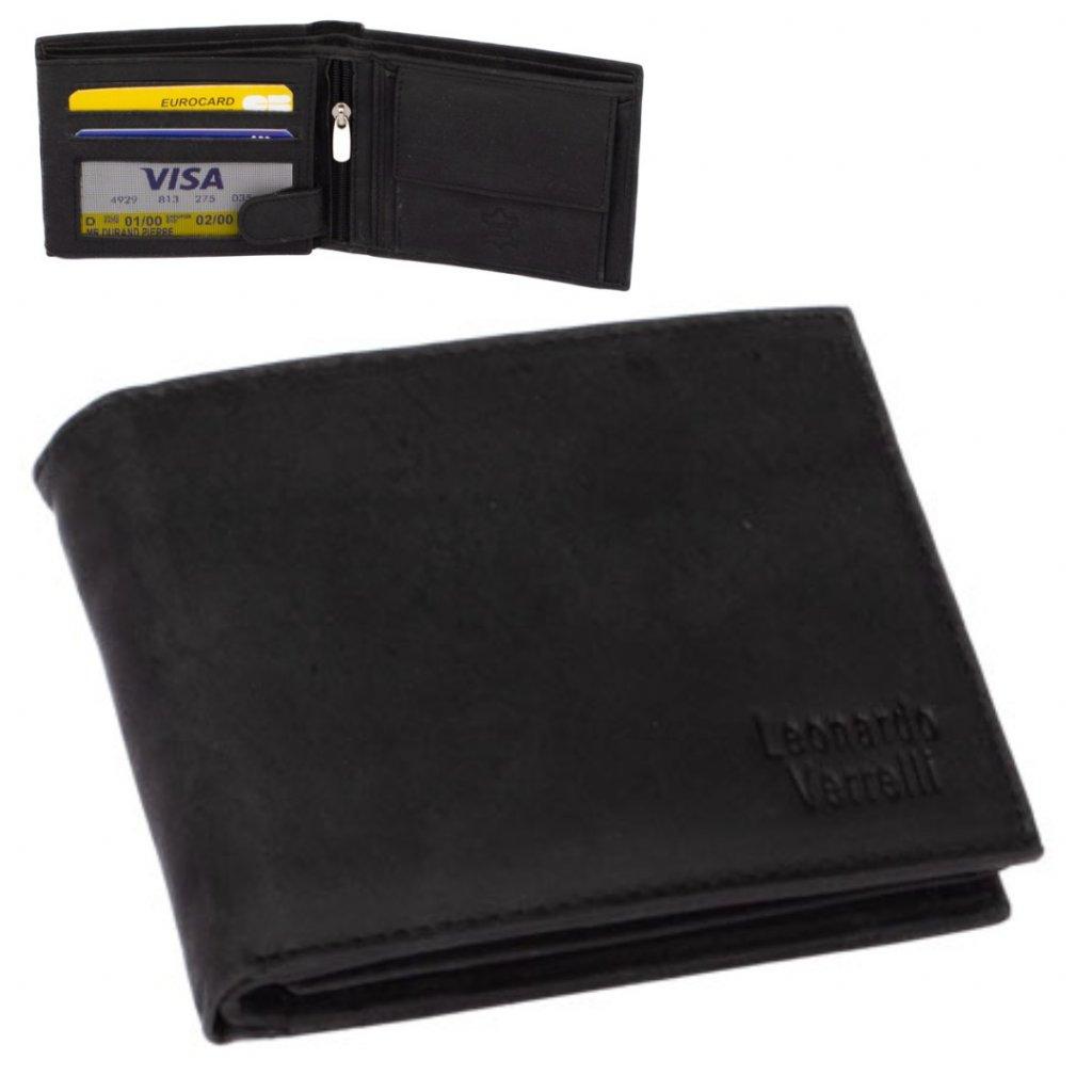 Pánská černá peněženka kožená