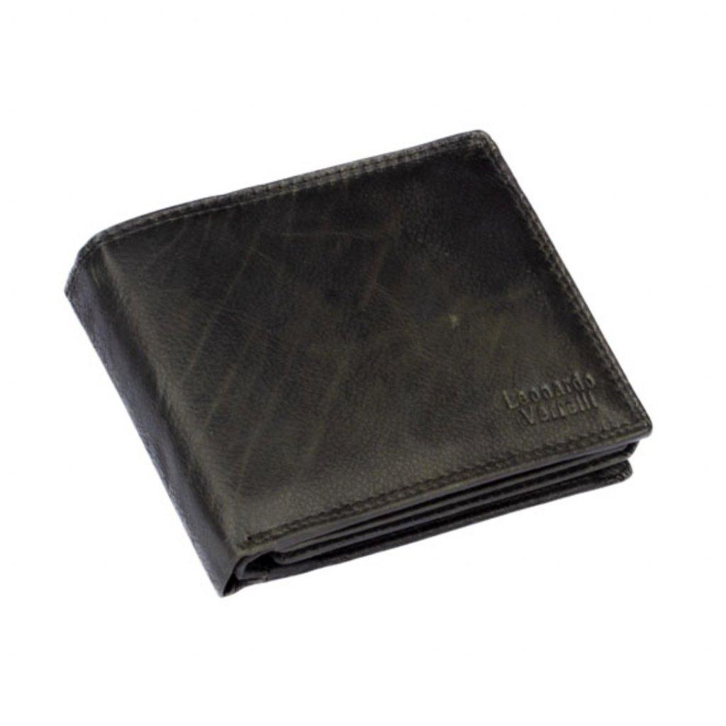 Pánská kožená peněženka šedo-černá - 2