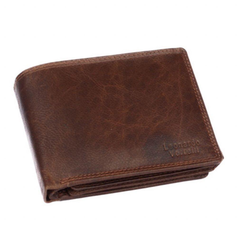 Pánská kožená peněženka červenohnědá - 2