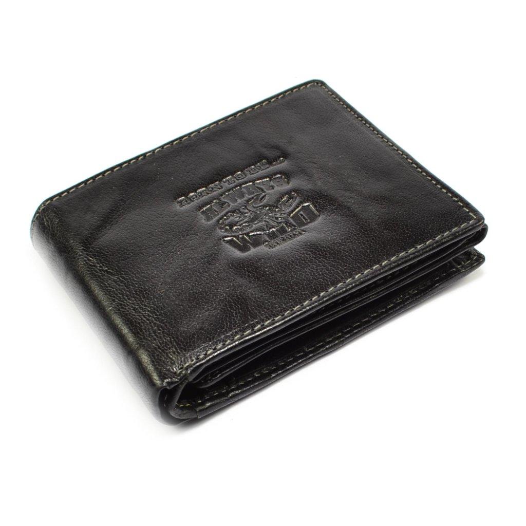 Černá pánská peněženka kožená - 2