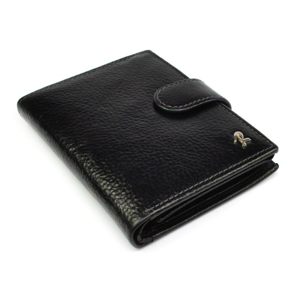 Pánská peněženka černá kožená - 3