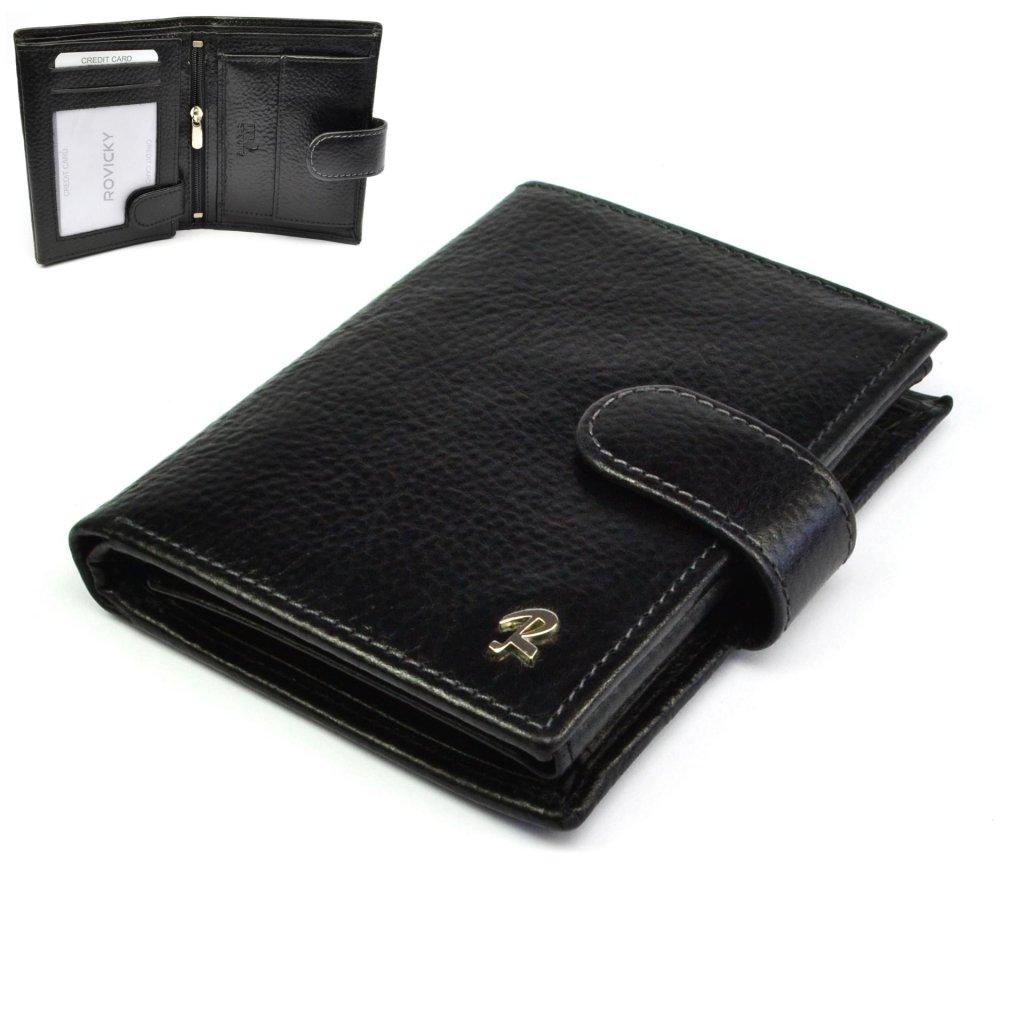 Pánská peněženka kožená černá