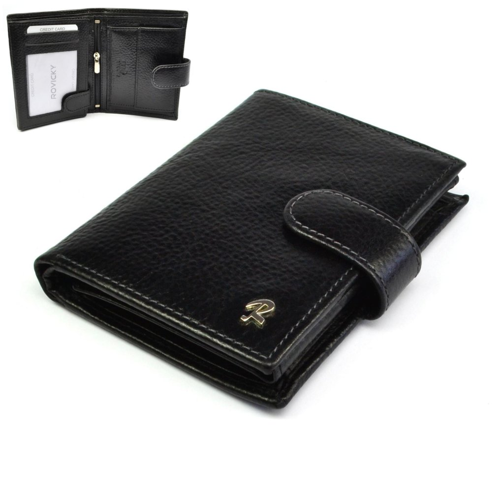 Pánská peněženka černá kožená
