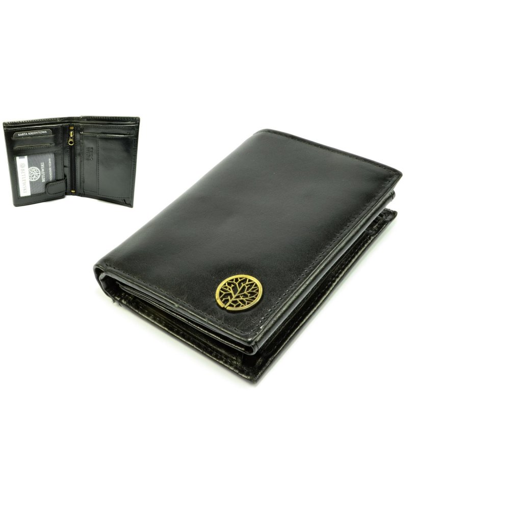 Luxusní pánská peněženka černá - 1