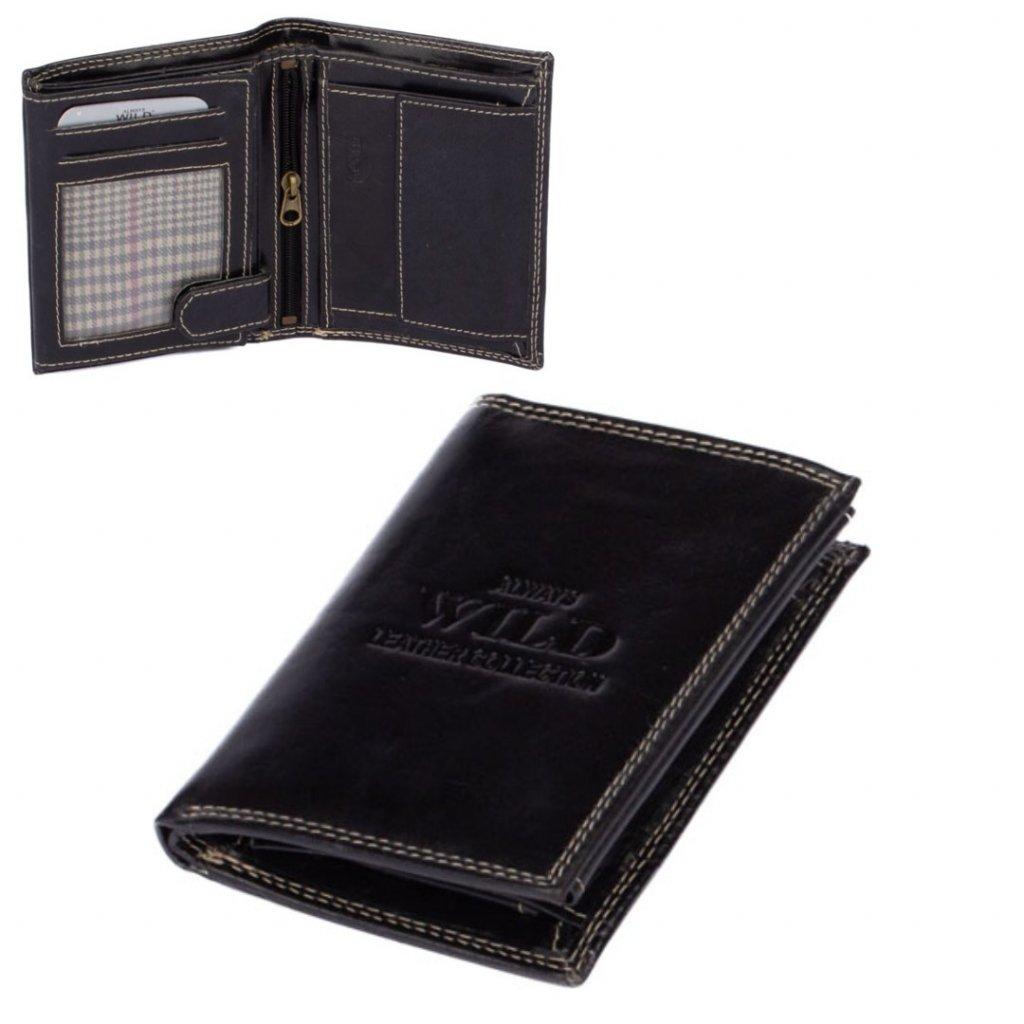 Kožená peněženka černá pánská