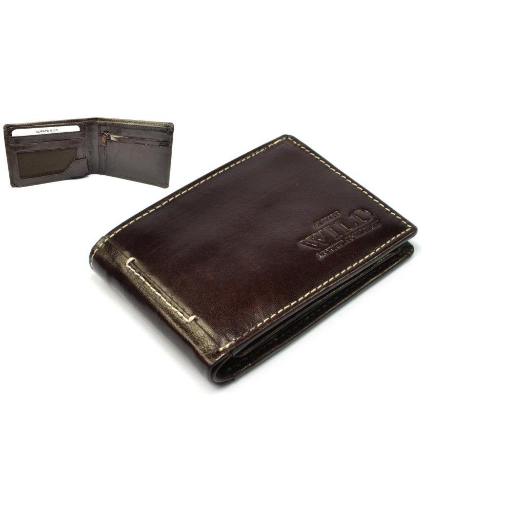 Hnědá peněženka pánská kožená