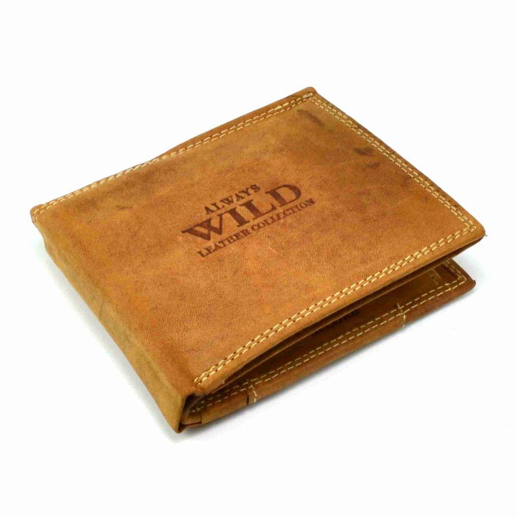 Hnědá peněženka kožená - 2