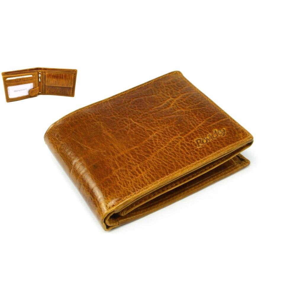 Pánská kožená hnědá peněženka