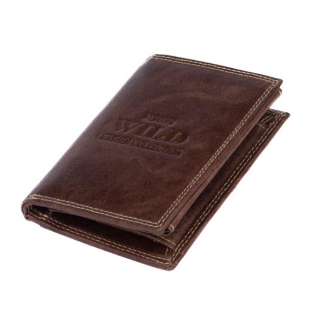 Kožená peněženka hnědá pánská - 2