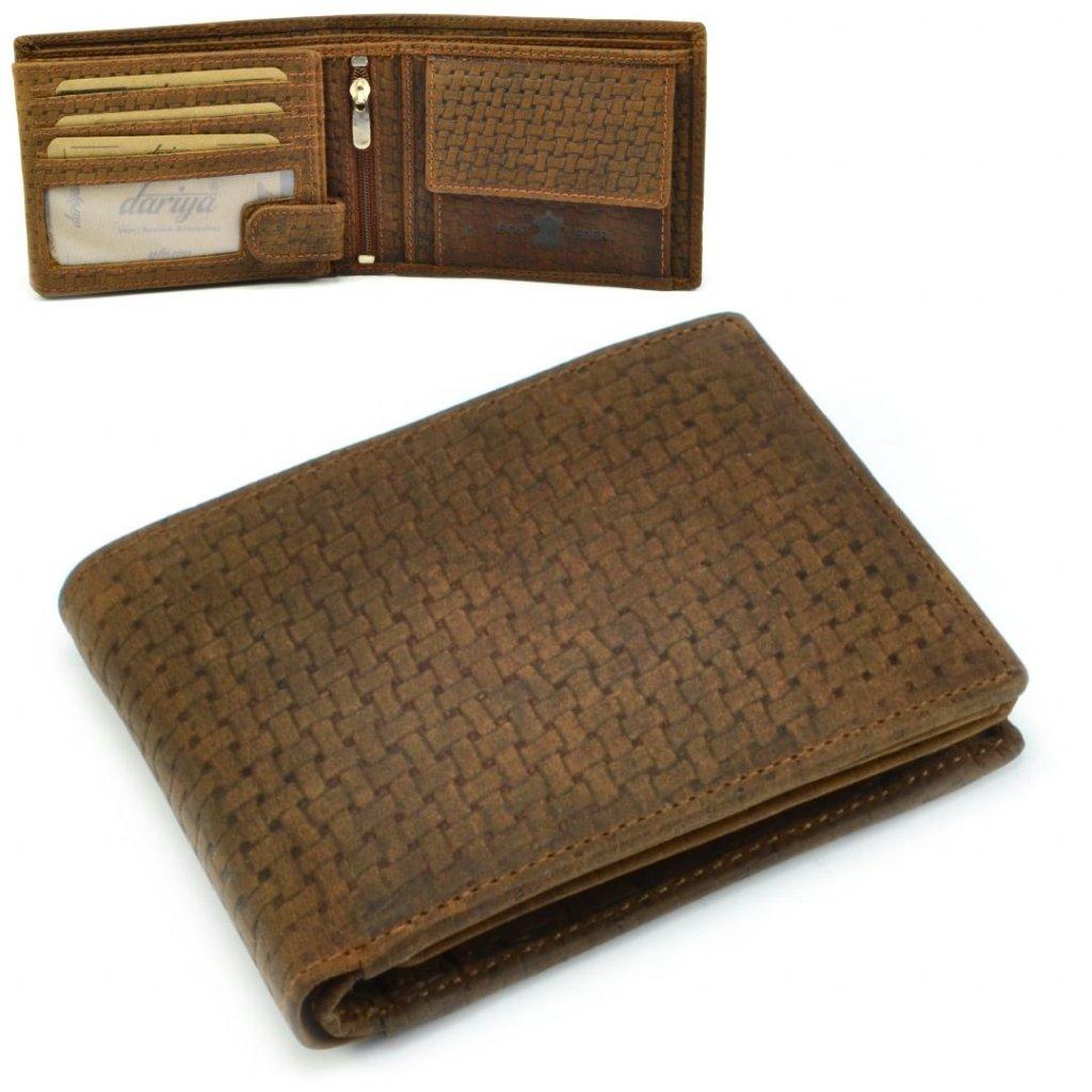 Hnědá pánská peněženka - 1