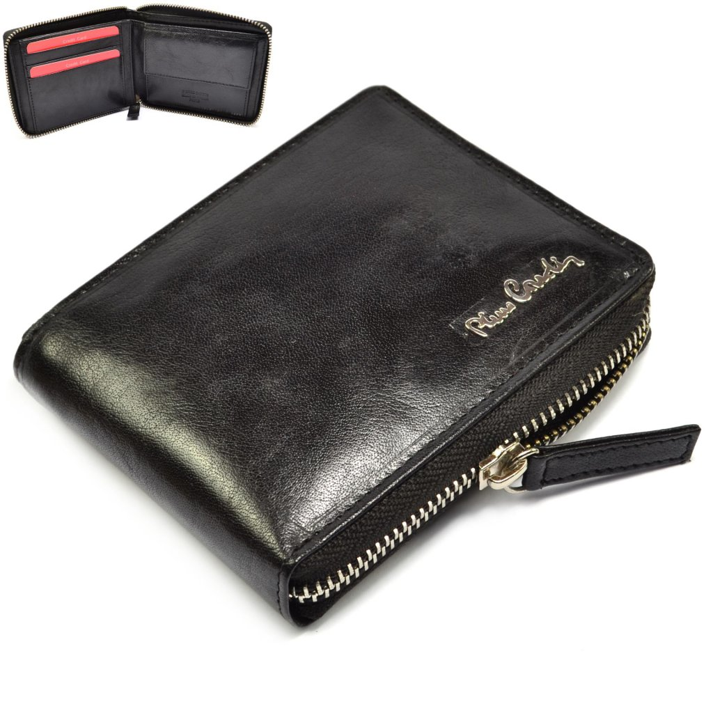 Černá peněženka pánská na zip