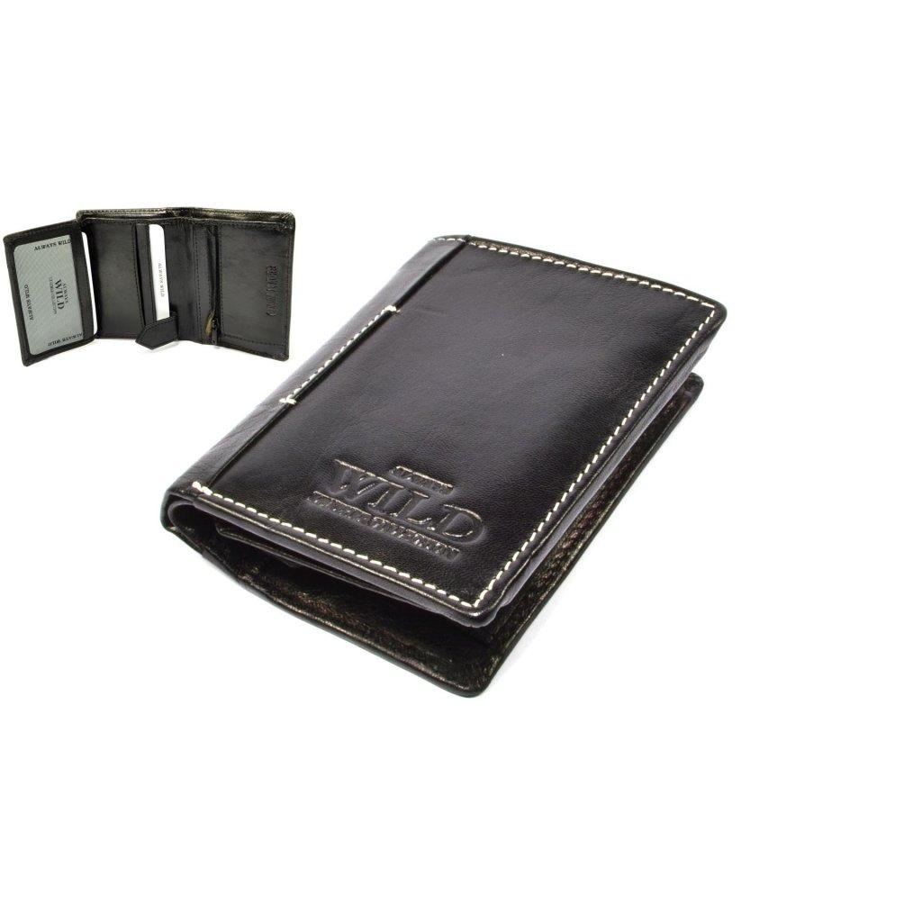 Černá pánská luxusní peněženka