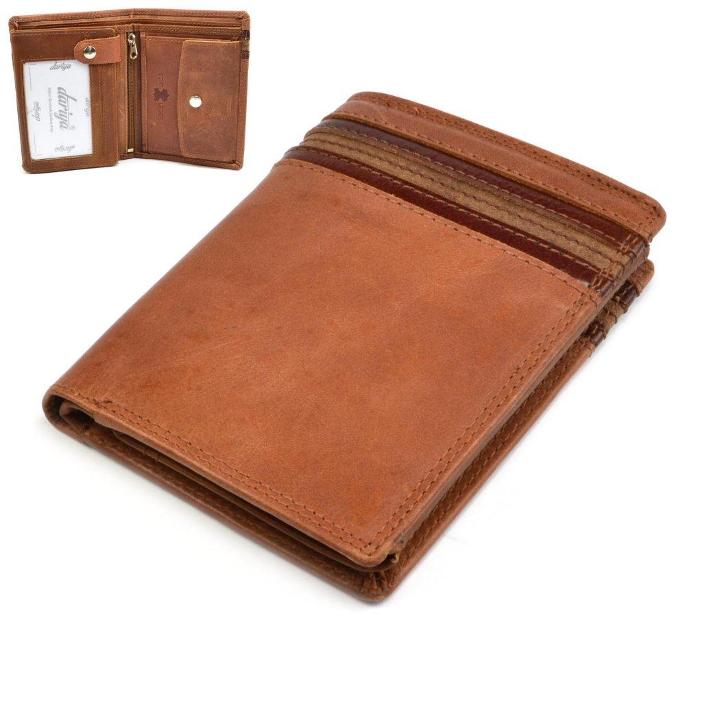 Hnědá pánská peněženka kožená - 1