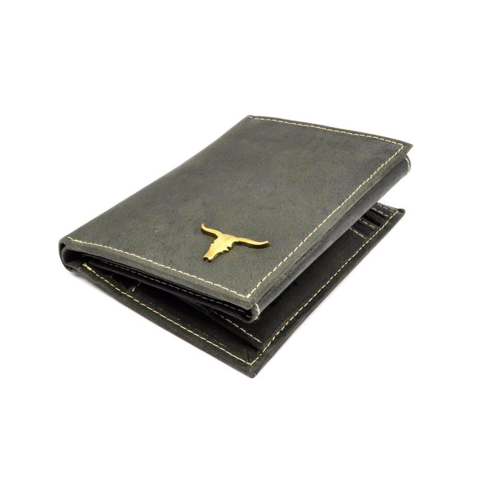 Pánská peněženka kožená šedá - 1