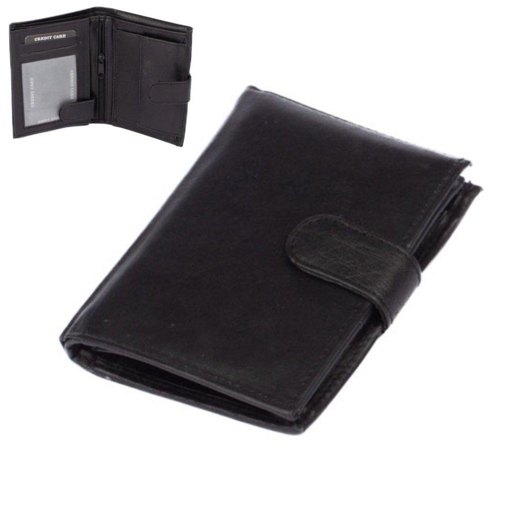 Pánská peněženka černá s přezkou