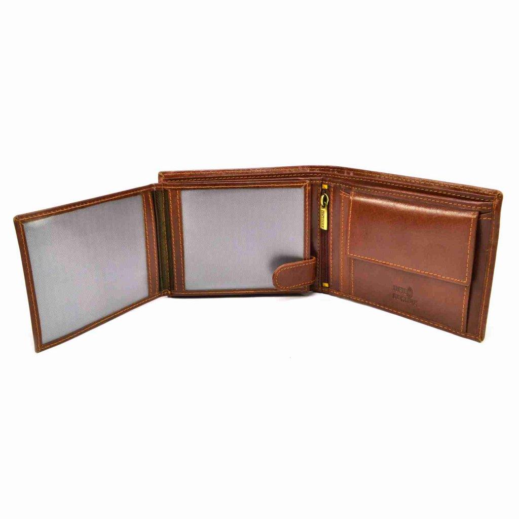 Pánská peněženka hnědá kožená - 7