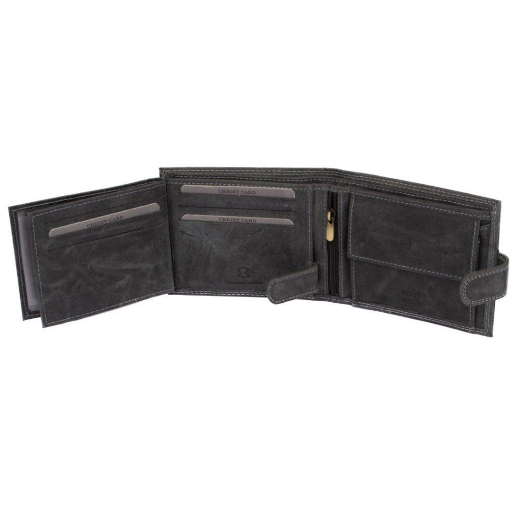 Kožená peněženka pánská šedá - 7