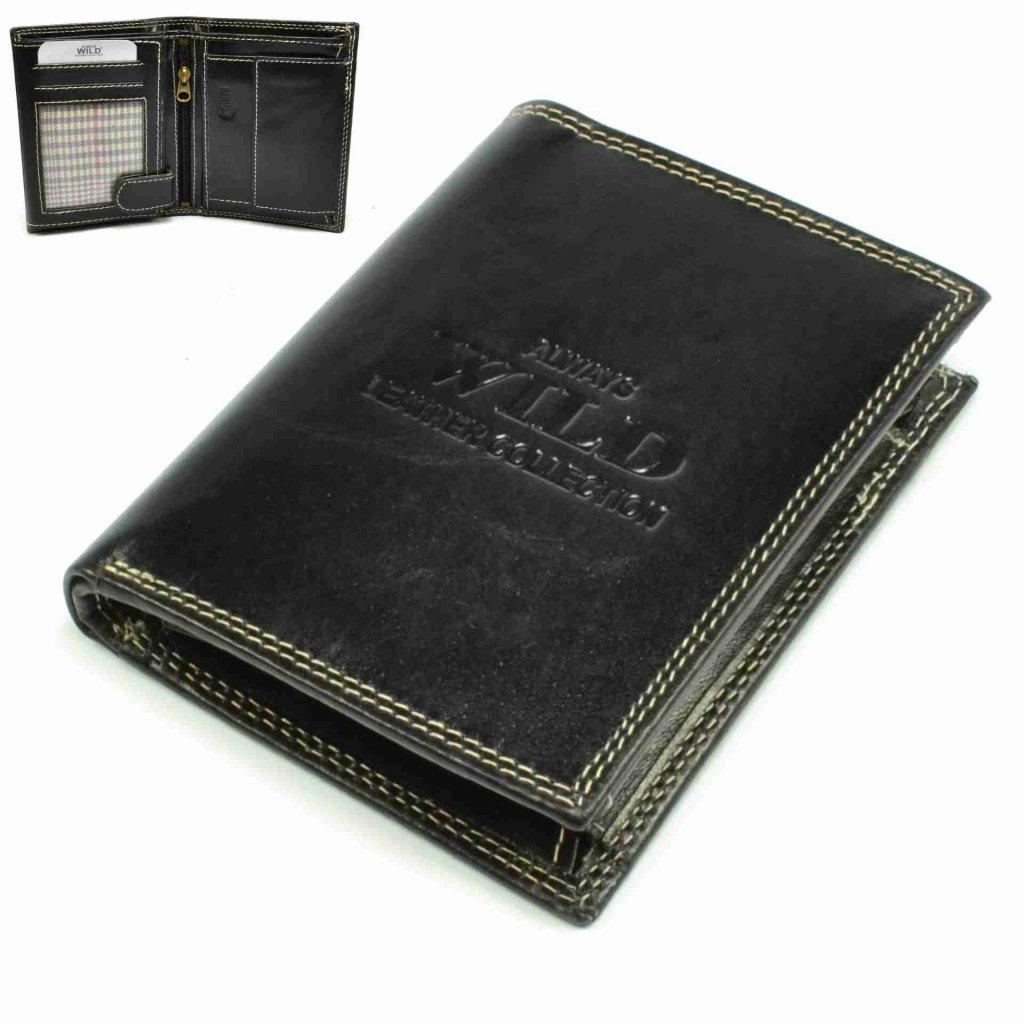 Pánská tenká kožená peněženka