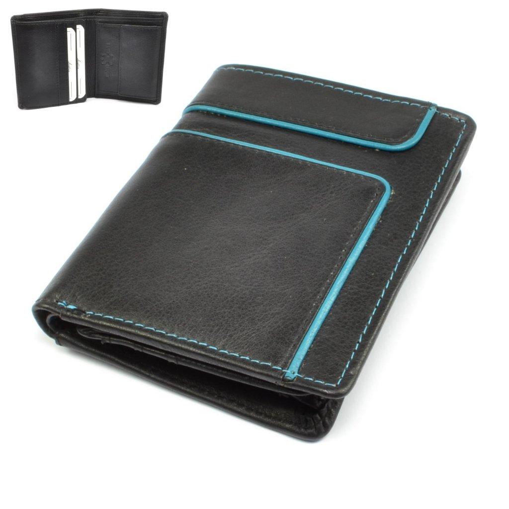 Kožená malá retro peněženka