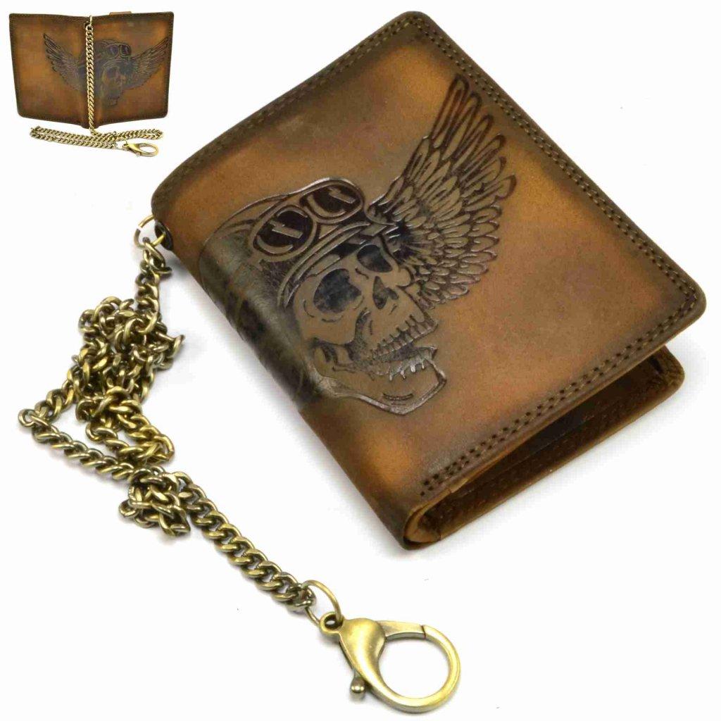 Pánská hnědá peněženka kožená - 1
