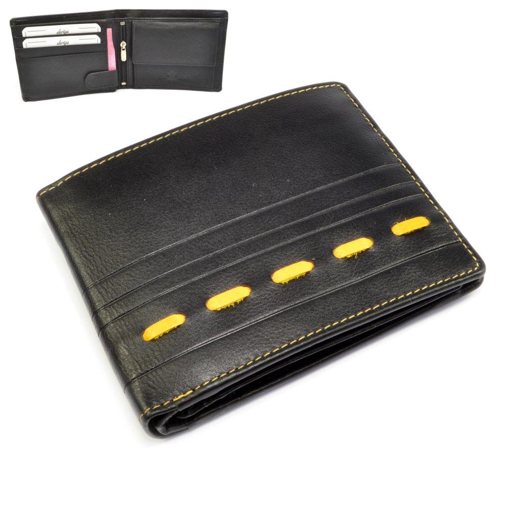 Kožená pánská nezapínací peněženka