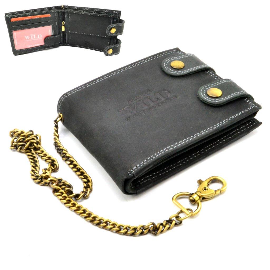 Kožená retro peněženka
